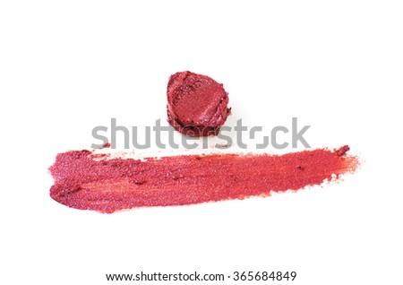 Smudged lipstick texture - stock photo