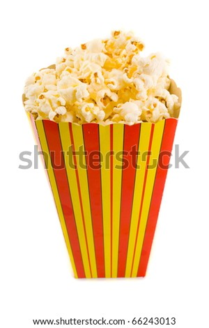 Snack box with full of popcorn . - stock photo
