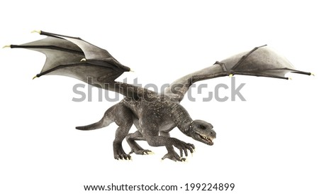 snack dragon walking - stock photo