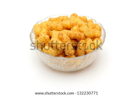 Snack flips with peanuts - stock photo