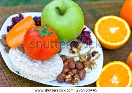 Snack for athletes (meal)  - stock photo