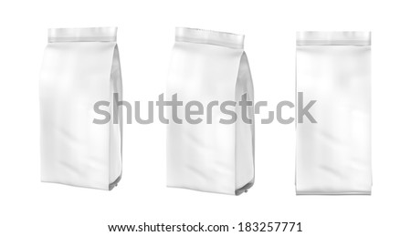 Snack package.Packing for the isolation of the product - stock photo