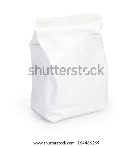 Snack package. Packing for the isolation of the product on a white background with path - stock photo