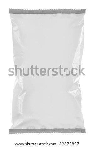 Snack packaging, ready for your design isolated on white background. for another blank packaging visit my gallery