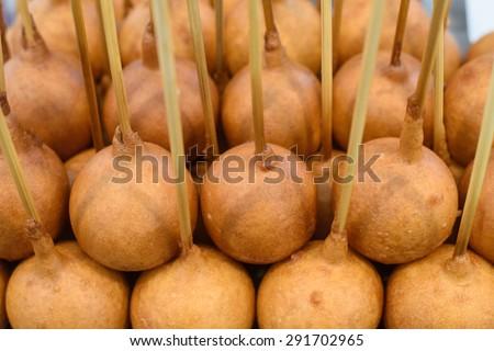 Snack : Thai Corn Dog, popular street food - stock photo
