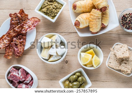 Snacks - stock photo