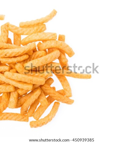 snacks isolated on a white background