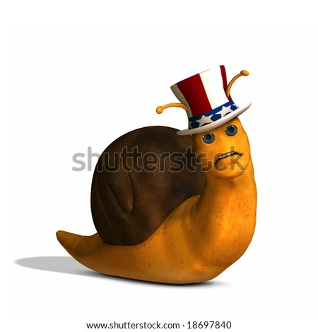 Snail Politics - stock photo
