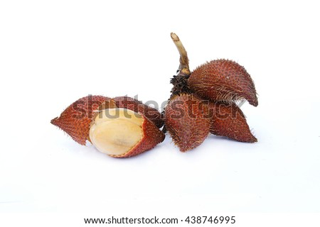 Snake Fruit, Salacca Fruit, Soft, juicy, light brown sweetness of sacrifice. There are quite a lot of sugar Provides energy to the body