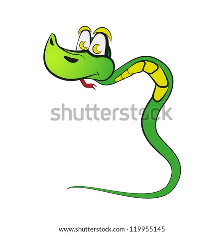 "Snake in the form of number three. Part of ""2013"". Raster version of the loaded vector. - stock photo"