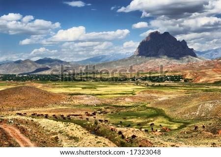 Snake mountain. Nakhichevan. Azerbaijan - stock photo