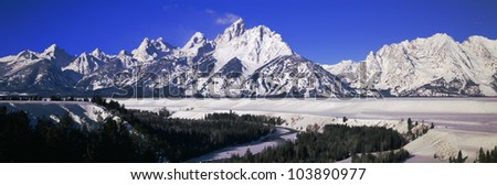 Snake River and Grand Tetons, Grand Teton National Park, Wyoming