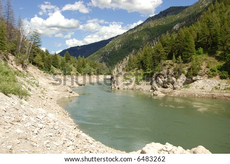 Snake River Hell's Canyon - stock photo
