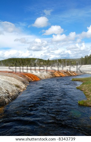 Snake River in Yellowstone National Park Wyoming - stock photo
