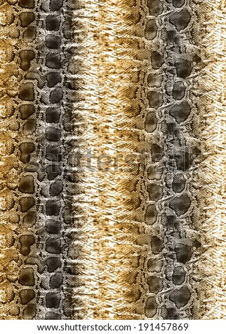 Snake skin pattern in brown color tones. - stock photo