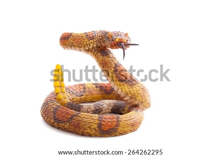 Snake toy isolated on a white background - stock photo