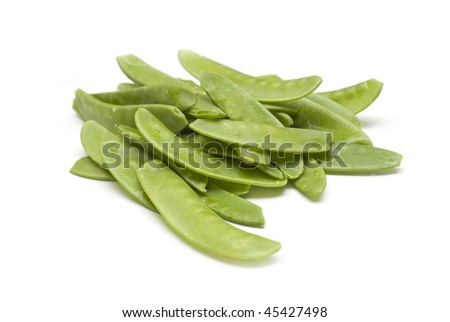 Snap Peas isolated on White