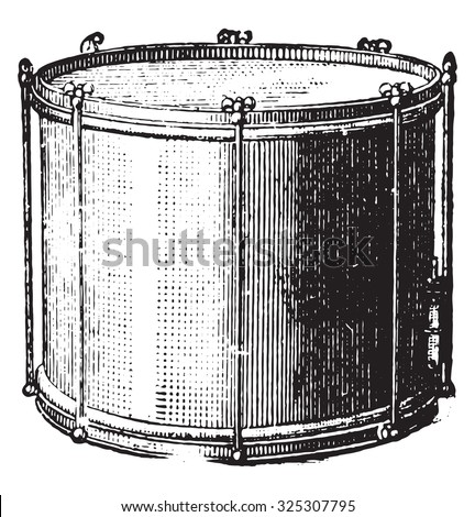 Snare drum rods, vintage engraved illustration. Industrial encyclopedia E.-O. Lami - 1875. - stock photo