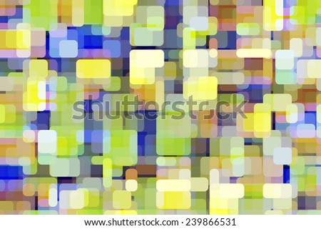 Snazzy multicolored abstract array of glowing city lights with illusion of three dimensions - stock photo