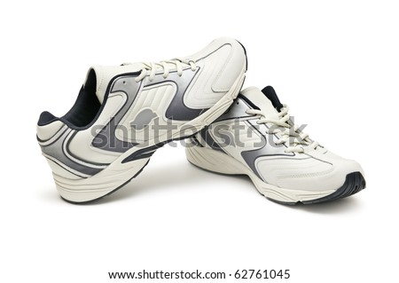 sneaker isolated on a white background - stock photo
