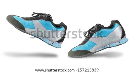 Sneaker isolated on white background - stock photo