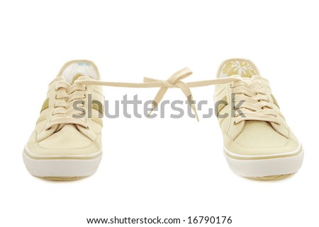 Sneakers isolated on a white background - stock photo