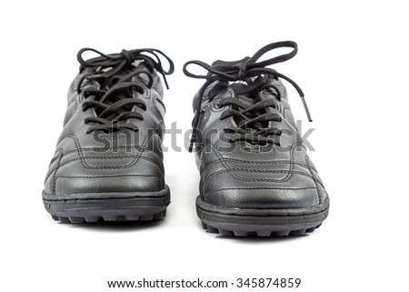 Sneakers isolated on white background. - stock photo