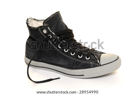 Sneakers over white background