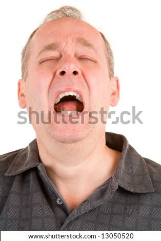 Sneezing - stock photo