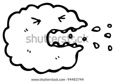 sneezing cloud cartoon character