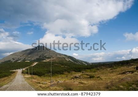 Sniezka mountain - stock photo
