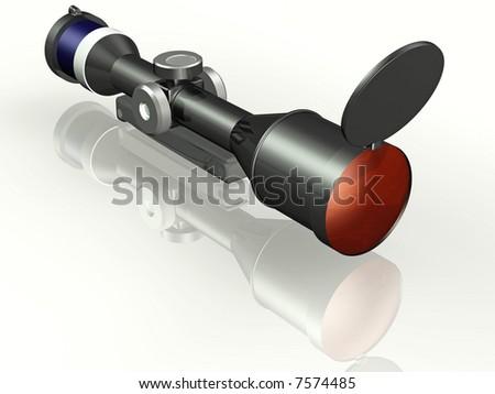 Sniper 3d concept illustration - stock photo