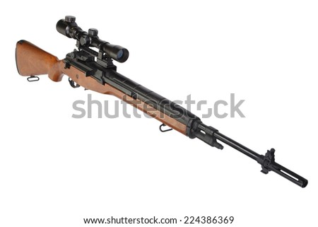 sniper rifle isolated on white background