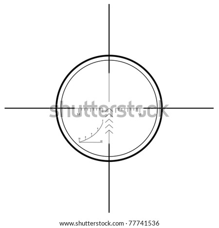 Sniper scope - isolated on white - stock photo