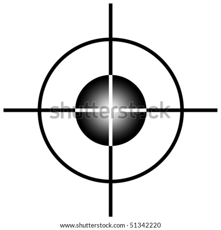 Sniper target scope or sight, isolated on white background. - stock photo
