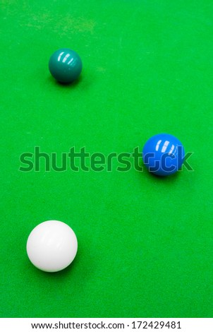 snooker ball on the table - stock photo