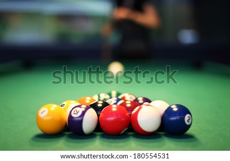 Snooker balls - stock photo