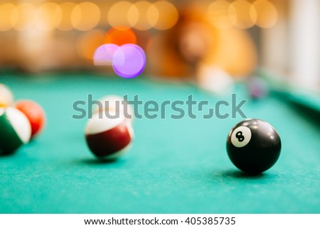 Snooker eight ball pool