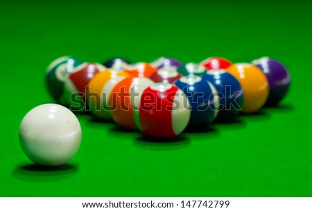 Snooker situation - stock photo