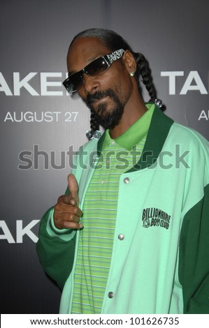 """Snoop Dogg  at the """"Takers"""" World Premiere, Arclight Cinerama Dome, Hollywood, CA. 08-04-10 - stock photo"""