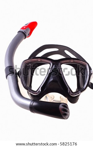 snorkel and  mask isolated on white background