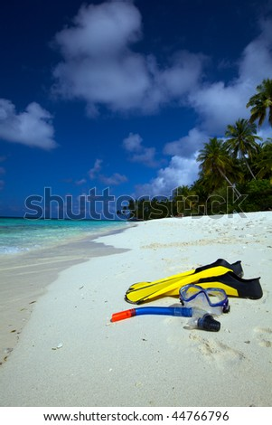 Snorkel, Mask and Fins! - stock photo