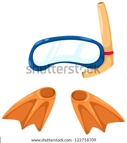 snorkeling equipment and flippers.JPG (EPS vector version id 121524646,format also available in my portfolio) - stock photo