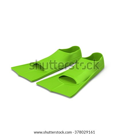 Snorkeling or Scuba Fins or flippers isolated on white
