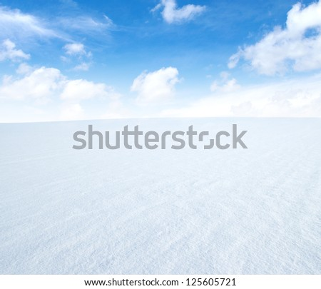 snow and blue sky - stock photo