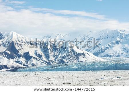 Snow and Ice in Glacier Bay  Alaska - stock photo