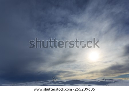 snow and sky