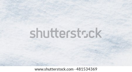 Snow as blank surface, horizontal view