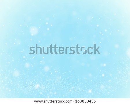 Snow, background and bokeh. Concept - winter, xmax, holidays
