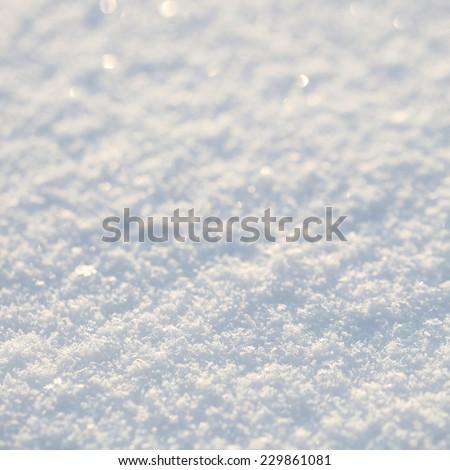 Snow background. Texture - stock photo